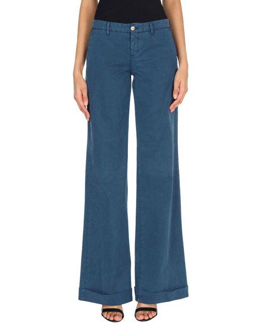 Pt0w Blue Casual Trouser