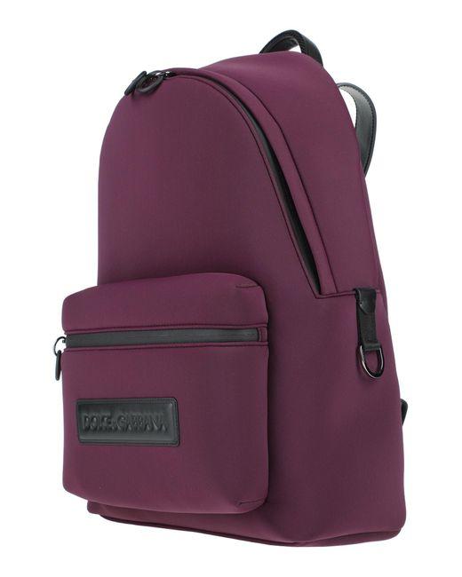 Dolce & Gabbana Purple Backpack for men