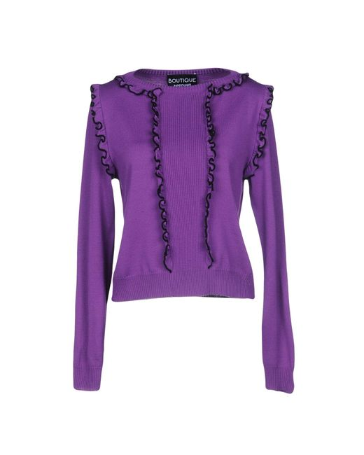 Boutique Moschino - Purple Sweaters - Lyst