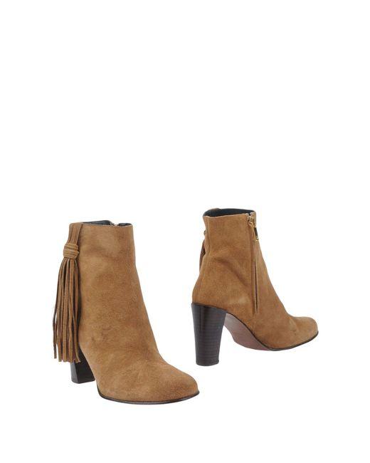 Karen Millen Natural Ankle Boots