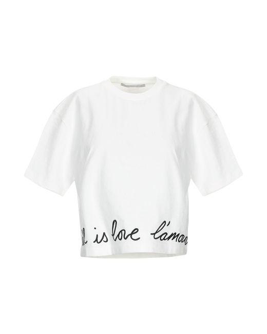 Stella McCartney Camiseta de mujer de color blanco rnRV6