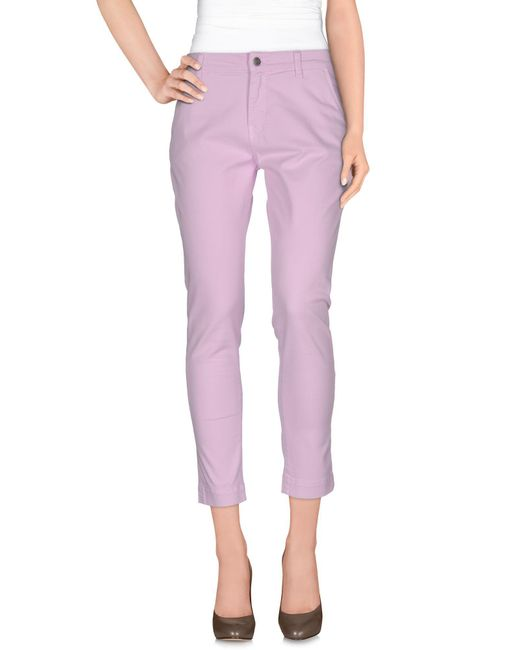 Pinko - Pink Casual Trouser - Lyst