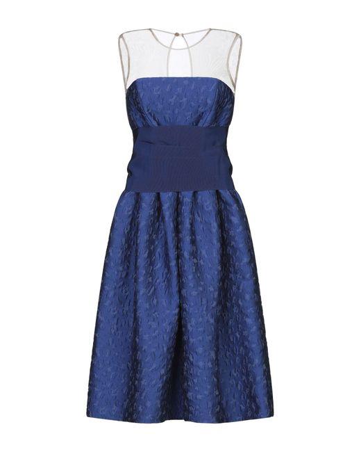 P.A.R.O.S.H. Blue Knielanges Kleid