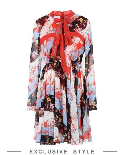BROGNANO - Red Short Dress - Lyst