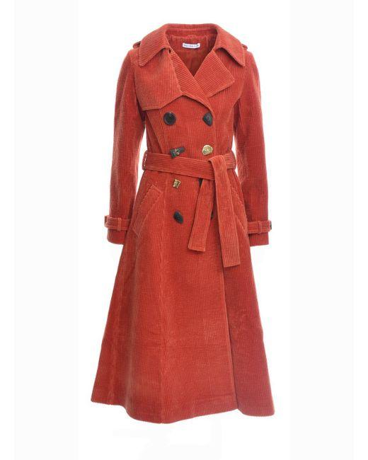 Rejina Pyo | Red Kirsten Rust Corduroy Trench Coat | Lyst