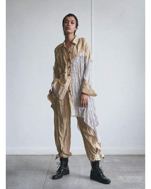 WEN PAN Multicolor An Asymmetrical Shirt