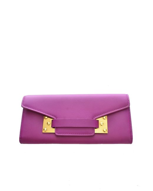 Sophie Hulme | Purple Dark Fuchsia Milner Flap Wallet | Lyst