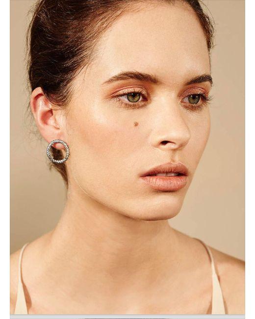 Maha Lozi | Gray Hula Hoop Earrings | Lyst