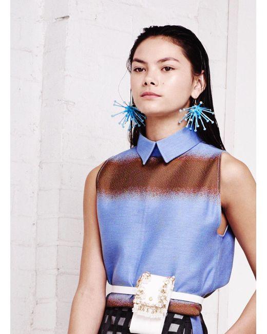 Kirsty Ward | Light Blue Cluster Earrings | Lyst