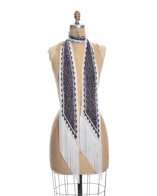 Rockins Multicolor Classic Skinny Fringed Scarf
