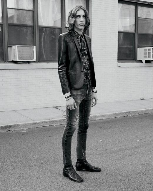 83bf904ab6 Saint Laurent Tokyo Black Stretch Denim Skinny Jeans for Men - Lyst