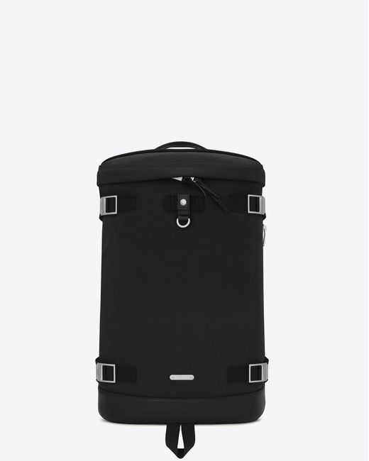 Saint Laurent - Black Rivington race sac à dos en toile de nylon et cuir for Men - Lyst