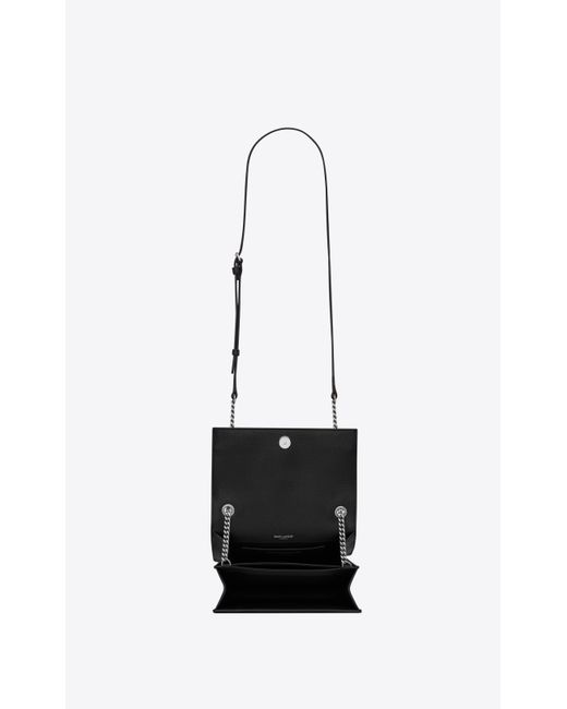 c58b81b12f8 ... Saint Laurent - Black Sunset Small In Grained Leather - Lyst ...