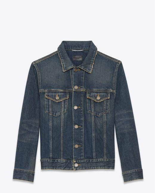 Saint Laurent | Blue Denim Jacket for Men | Lyst