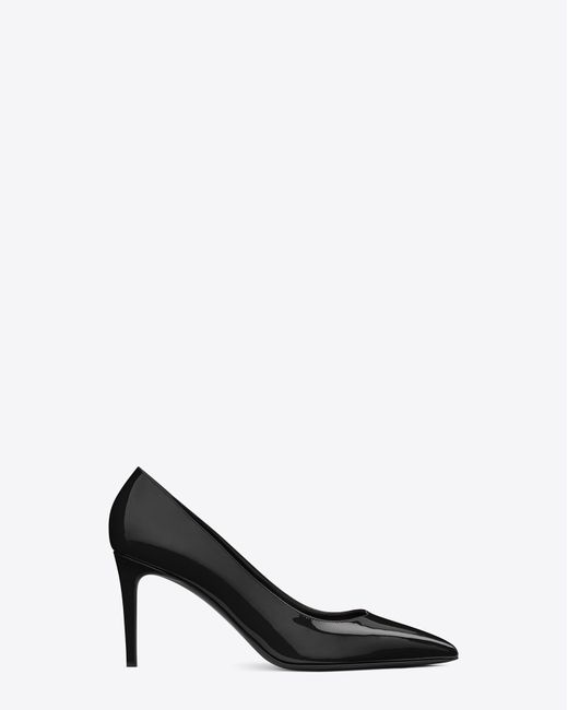 Saint Laurent | Black 'paris' Pointy Toe Pump | Lyst