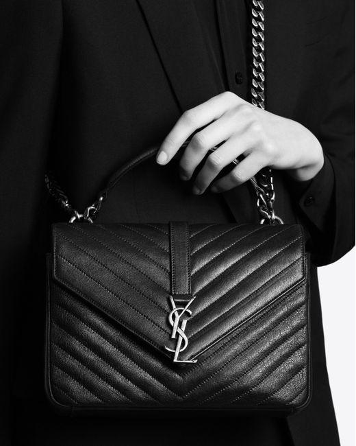 Saint laurent Monogram University Medium Quilted Leather . 8ffd324e2a5e7