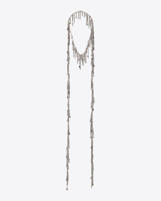 Saint Laurent - Metallic Long Necklace - Lyst