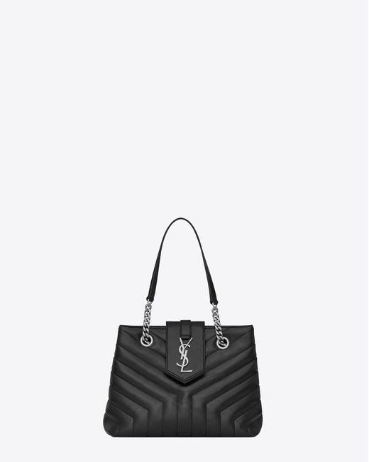 Saint Laurent - Black Monogramme Loulou - Lyst