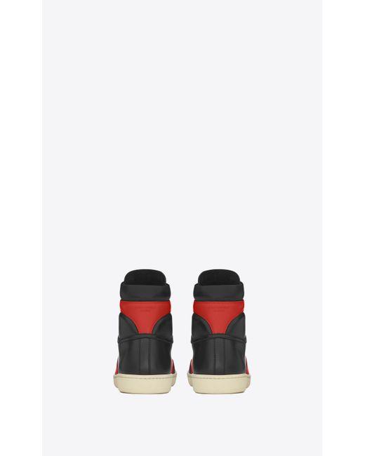 Saint Laurent Leather Black Amp Red Court Classic Sl 10h