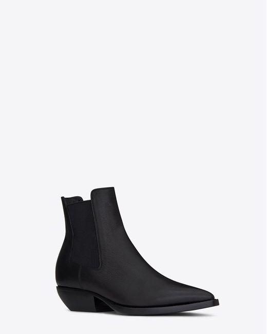 Saint Laurent - Black Theo Chelsea Boots - Lyst