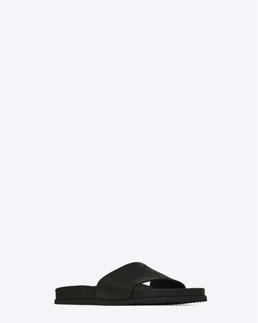 Saint Laurent - Black Sandale jimmy 20 en cuir noir for Men - Lyst