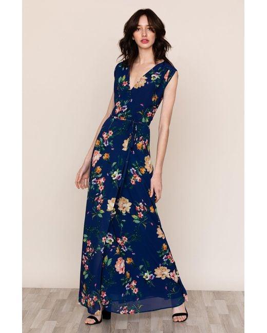 Yumi Kim Blue Swept Away Maxi Dress