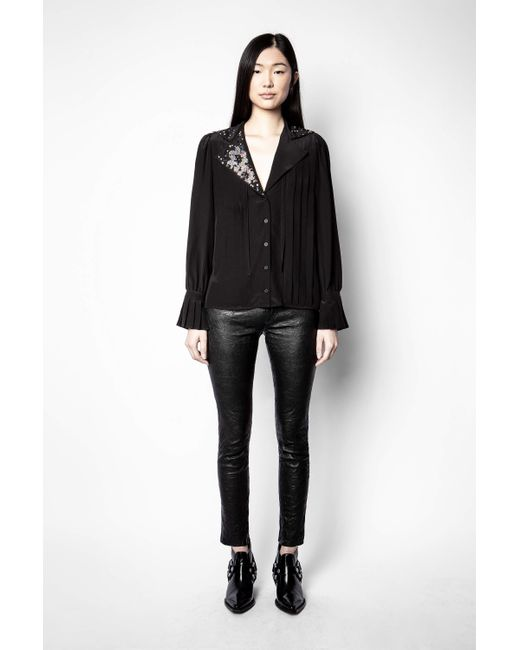 Zadig & Voltaire Black Tessa Strass Tunic