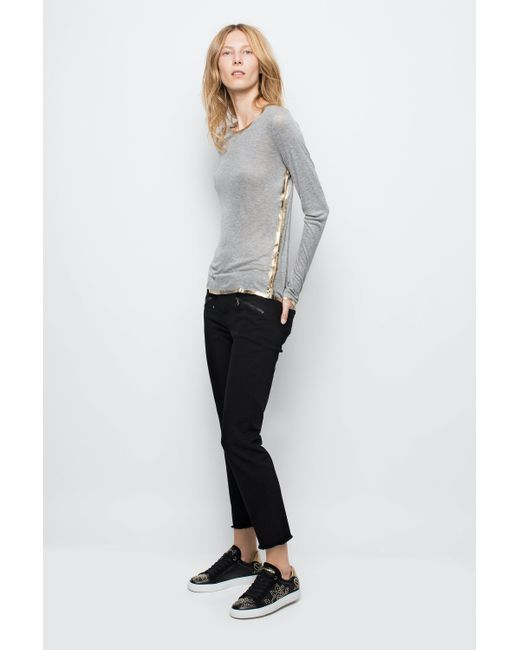 Zadig & Voltaire Gray Willy Gold T-shirt