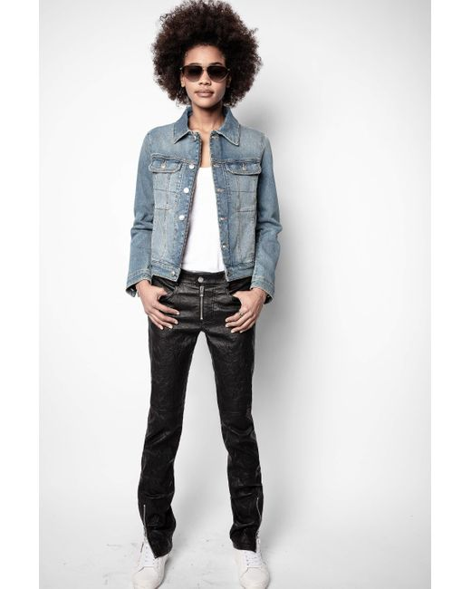 Zadig & Voltaire Blue Kioky Band Of Sisters Jacket