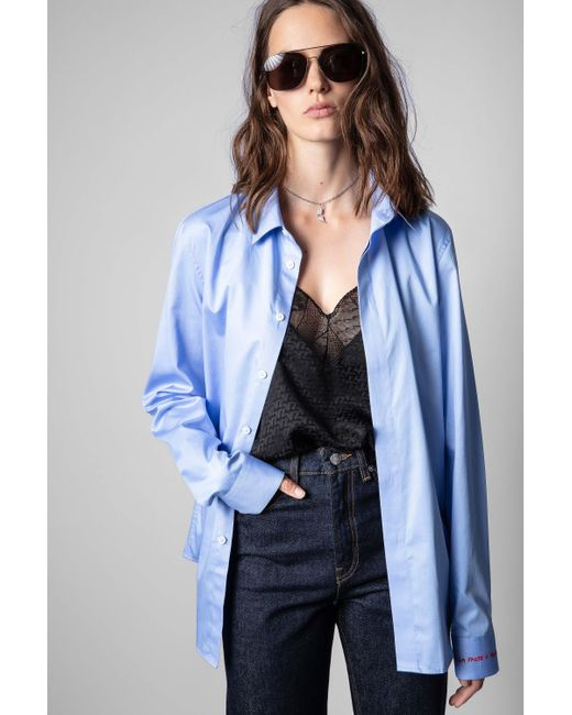 Zadig & Voltaire Blue Sydney Pop Shirt