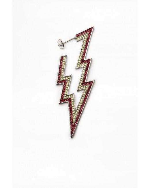 Zadig & Voltaire - Metallic Big Comete Flash Single Ear-ring - Lyst