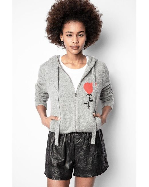 Zadig & Voltaire Gray Cassy Cashmere Cardigan