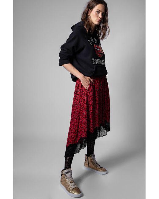 Zadig & Voltaire Red Joslin Skirt