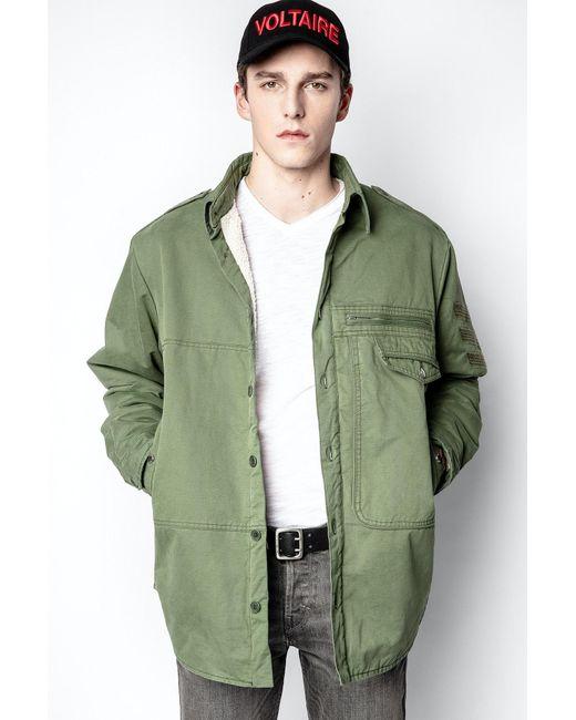 Zadig & Voltaire Green Troyh Mili Jacket for men