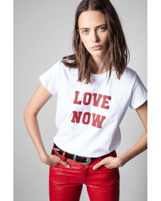 Zadig & Voltaire White Woop Love Now T-shirt
