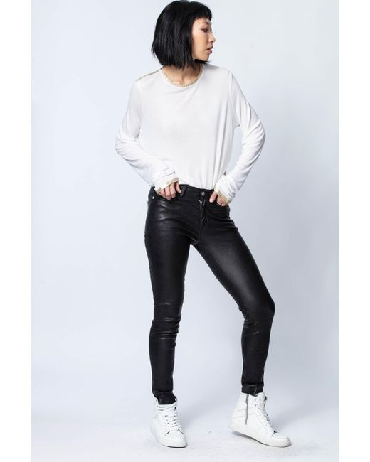 Zadig & Voltaire White Willy Gold T-shirt