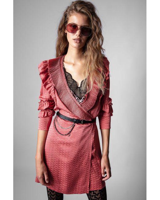 Zadig & Voltaire Pink Zv Jac Rio Dress