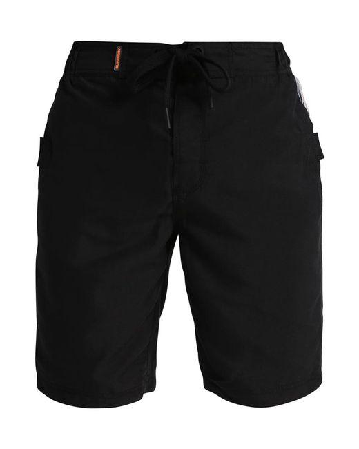 Superdry | Black Panel Boardshort Swimming Shorts for Men | Lyst