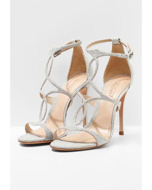 Schutz High heeled sandals - silver 67Eyyz7d