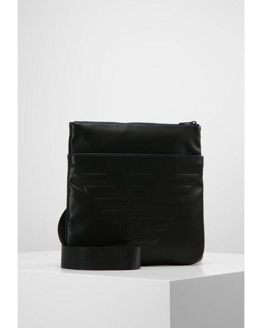 Emporio Armani | Black Piattina Grande Across Body Bag for Men | Lyst