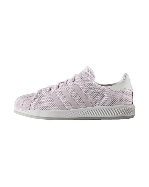 adidas originals superstar bounce trainers in purple lyst. Black Bedroom Furniture Sets. Home Design Ideas
