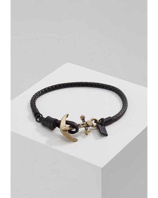 Icon Brand   Black Anchor Watt Bracelet for Men   Lyst