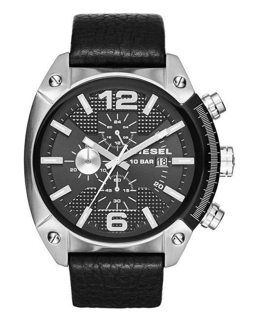 DIESEL   Black Overflow Chronograph Watch for Men   Lyst