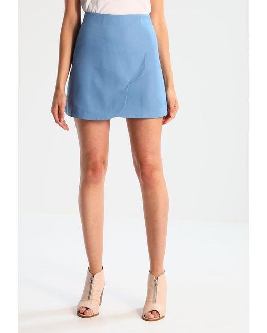 Fashion Union | Blue Moroccan Scallop A-line Skirt | Lyst
