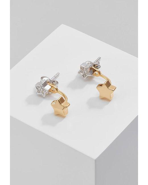 Fossil | Metallic 2 In 1 Earrings | Lyst