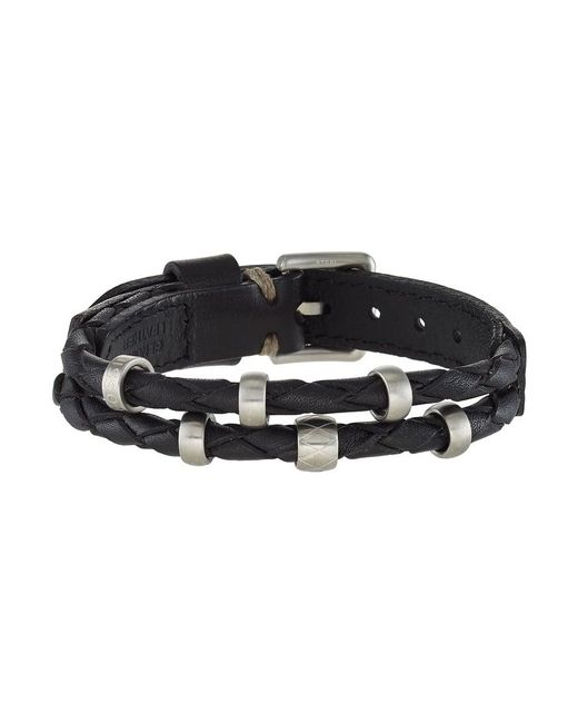 Fossil   Black Vintage Casual Bracelet for Men   Lyst