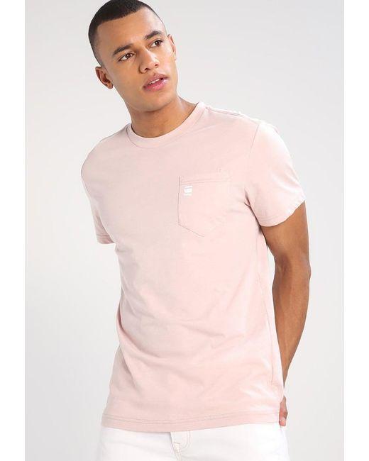 G-Star RAW   Pink Regular Pocket R T S/s Regular Fit Basic T-shirt for Men   Lyst