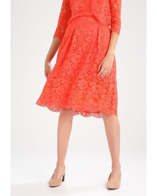 Warehouse   Red Scallop Hem A-line Skirt   Lyst