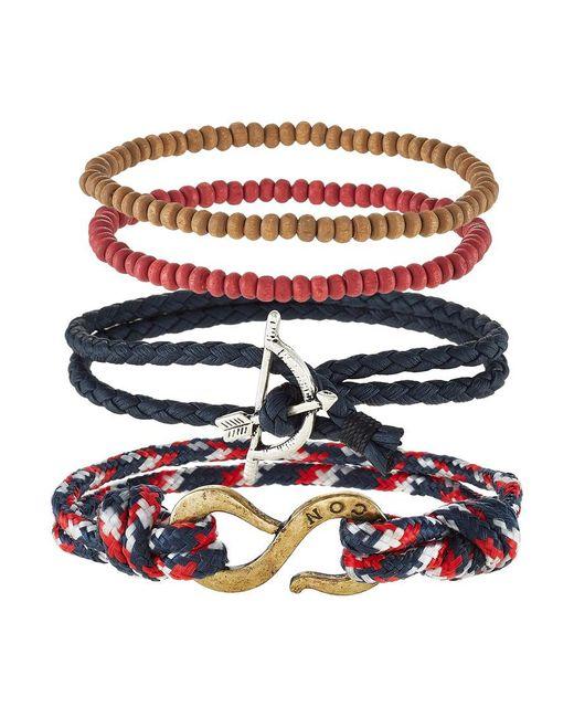 Icon Brand   Black Marseillaise 4 Pack Bracelet for Men   Lyst