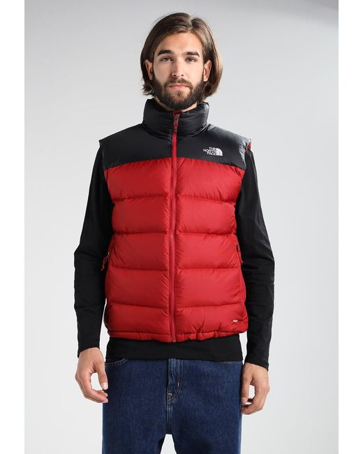 234562a838 The north face Nuptse Waistcoat in Red for Men